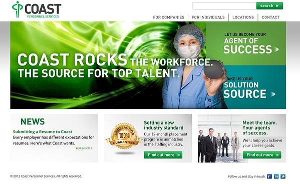 Coast Personnel Services website
