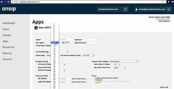 The OnSIP Admin Portal.