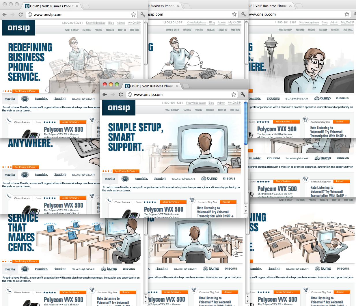 Many developers - many websites
