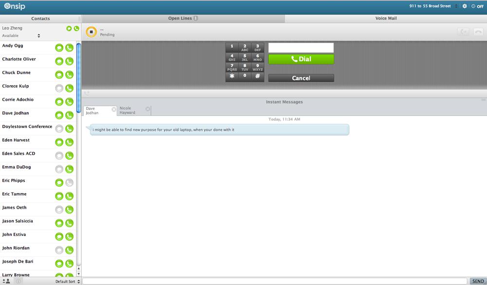 New my.OnSIP interface