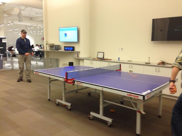 OnSIP employee played ping pong at Pivotal Labs
