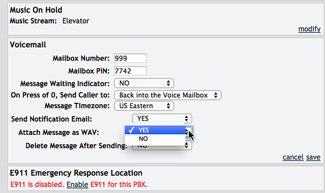 Business Voicemail to Email