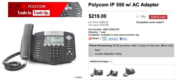 Purchase a Polycom IP phone from Telephony Depot