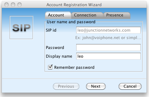 Account Registration Wizard