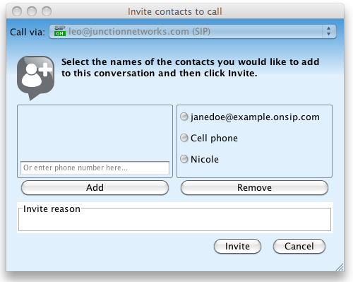 Jitsi Invite Contacts