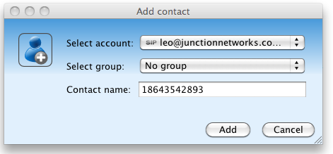 Add Contact Jitsi