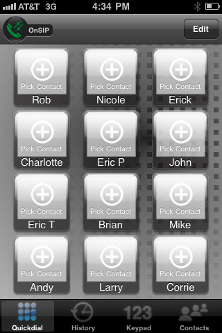 Groundwire Screen Shot - Pick Contacts