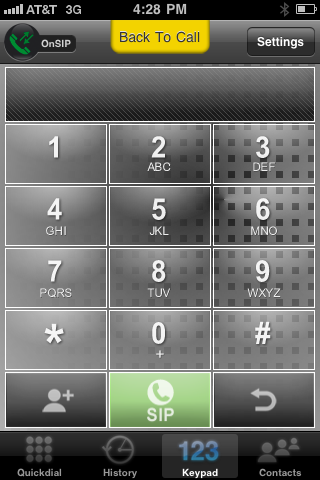 Groundwire Screen Shot - Dialpad