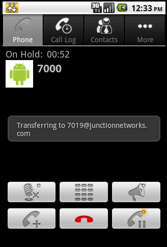 Bria for Android call