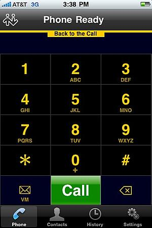 Bria Call Screen