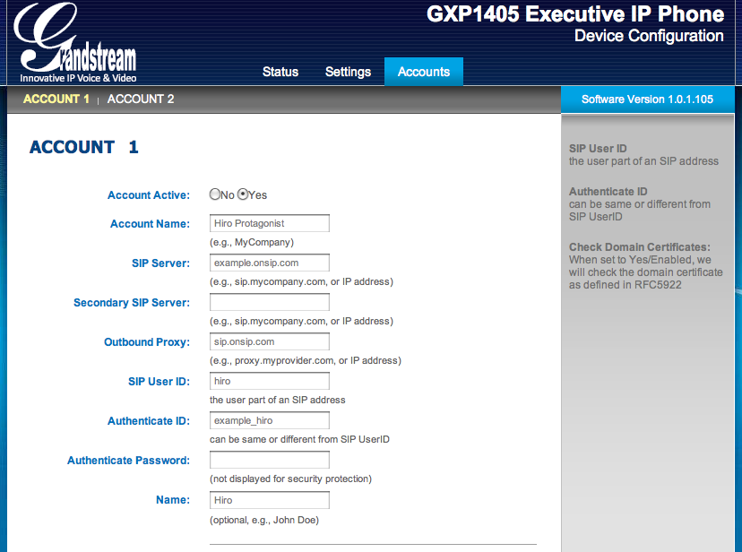 Grandstream GXP1400/1405