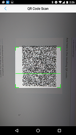 QR Code Scan on the Grandstream Wave