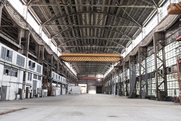 Abandoned warehouse due to temporary close of business