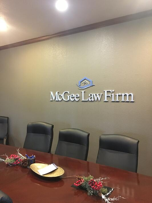 McGee Law Firm conference room.