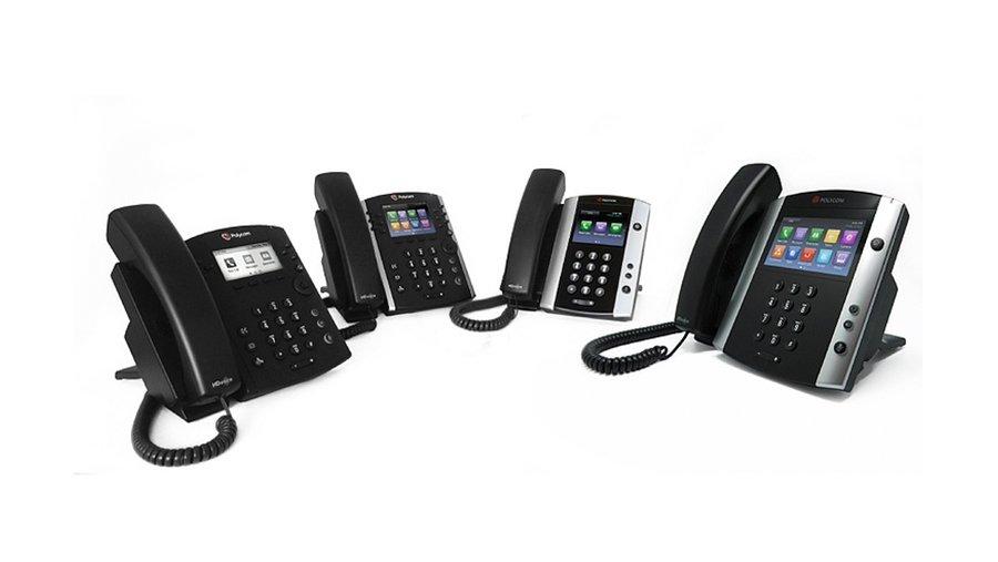 Polycom VVX VoIP phone line.