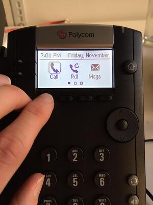 Polycom VVX 201 interface