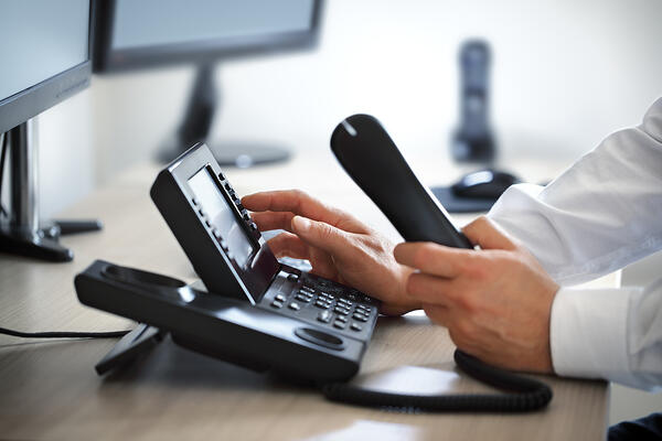 Dialing VoIP Phone in an Office
