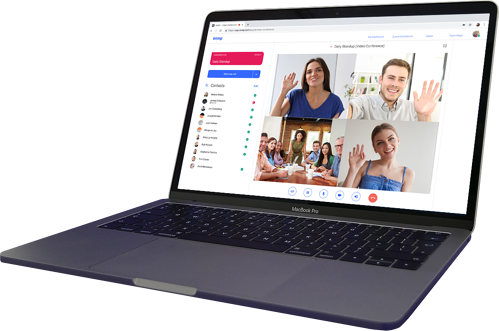 OnSIP customers can host five-way video calls right from the web or desktop app.
