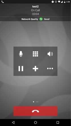 Bria for Android call window