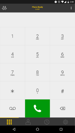 Bria for Android dialpad
