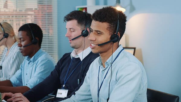Call center agents on ACD queue calls.