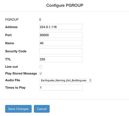 Configure Paging Group - Cyberdata SIP Paging Server with Bell Scheduler