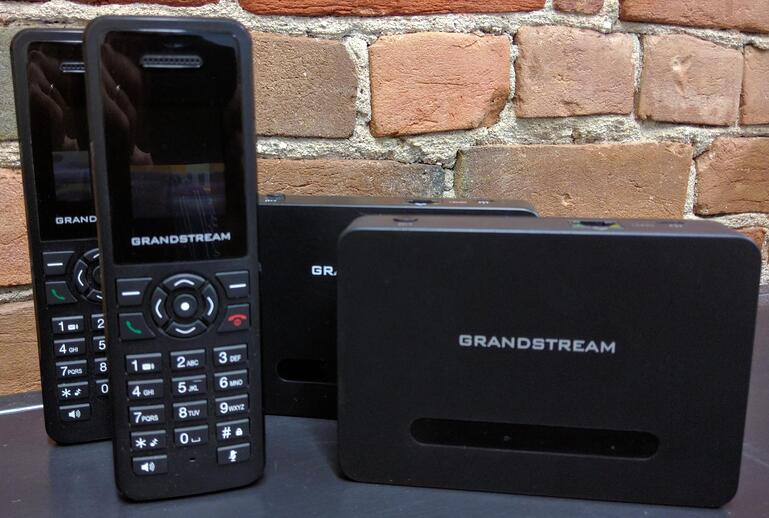 Grandstream DP760 DECT repeater with DP750 DECT base station and DP720 DECT phones