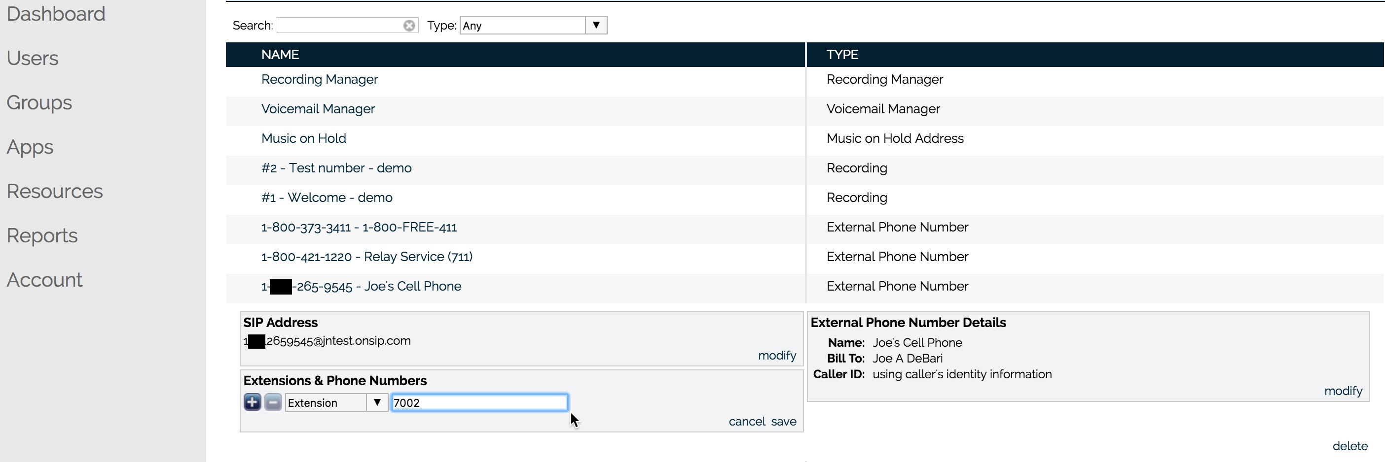 Give your external phone number an extension for quick and seamless dialing.