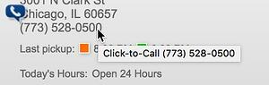 The OnSIP Call Assistant for Google Chrome turns phone numbers on web pages into clickable links.