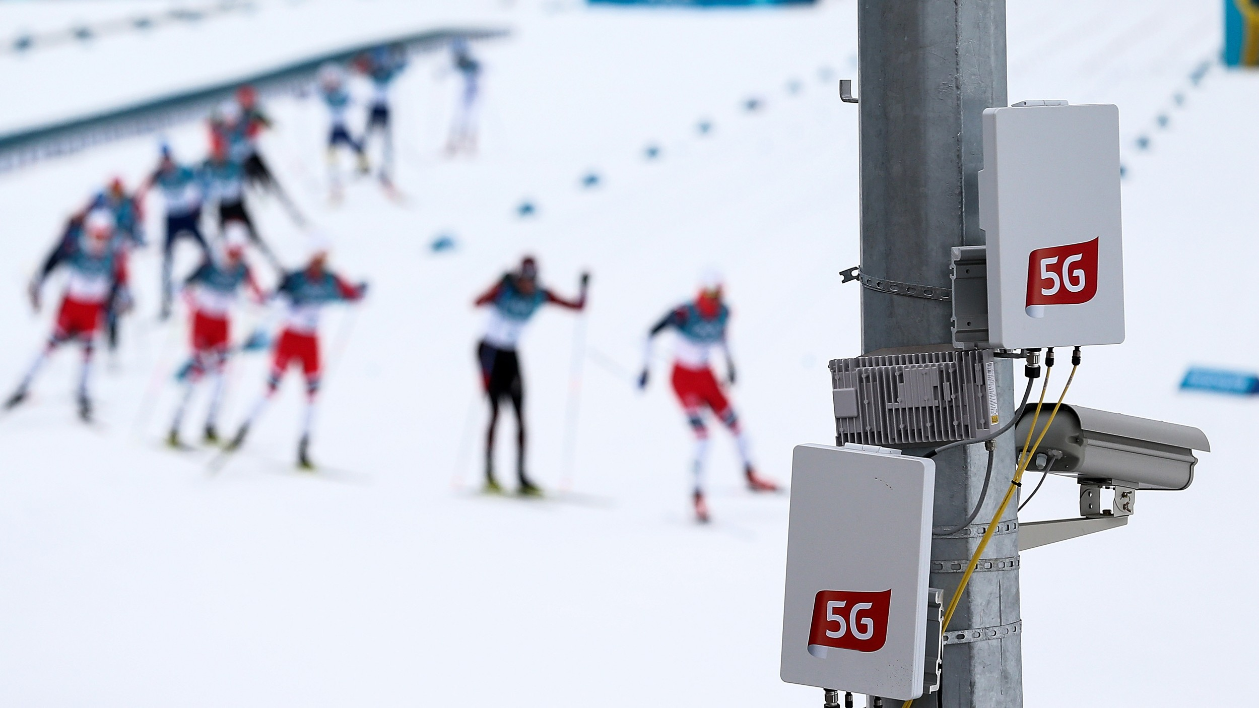 Getty Image of 5G hardware at the 2018 Winter Olympics