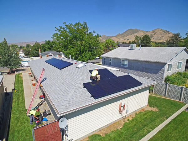 Intermountain Wind & Solar—installing solar panels.