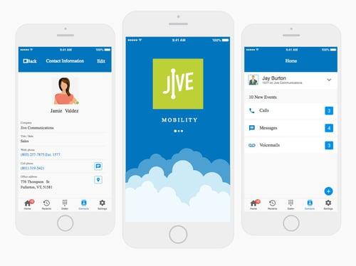 Jive's mobile application.