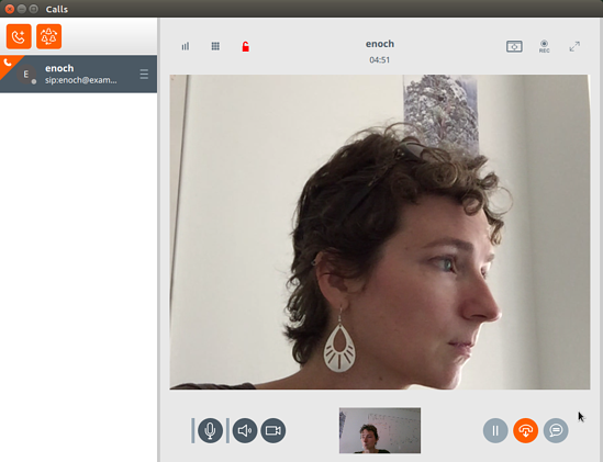 Linphone for Linux video call