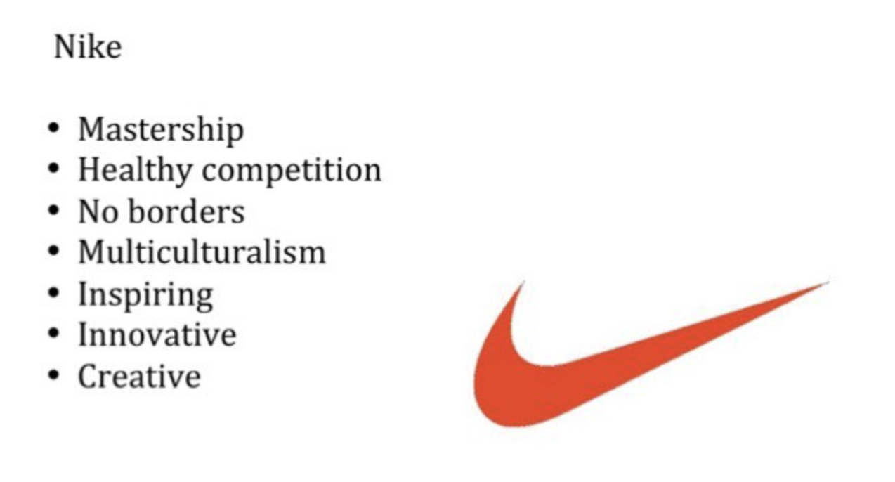 Screenshot of Nike's brand identity effectively communicated in its slogan.
