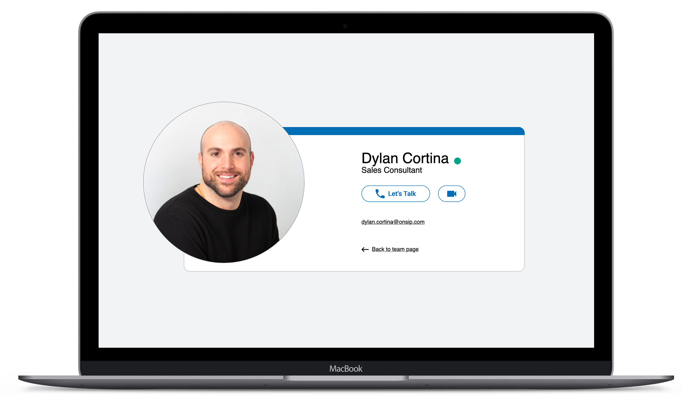 OnSIP personal call page