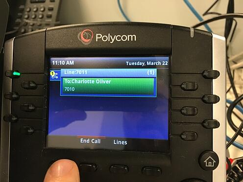 Polycom intercom feature