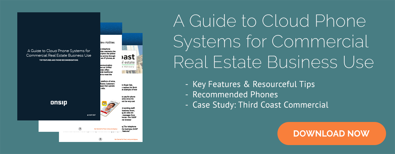 Download our free Guide on cloud phone systems for commercial real estate!