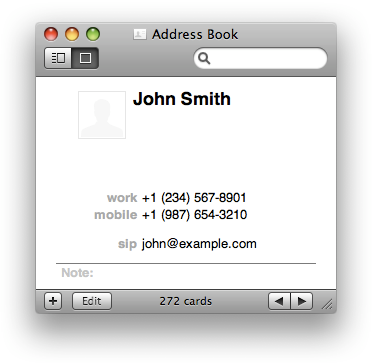 A SIP address is similar to an email address