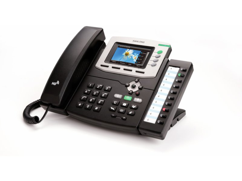IP phone on a white background.