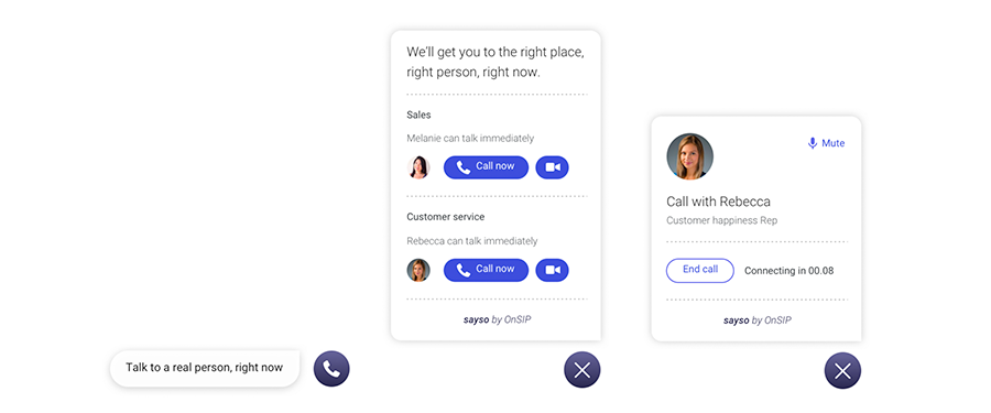 OnSIP's sayso is a unique web calling solution.