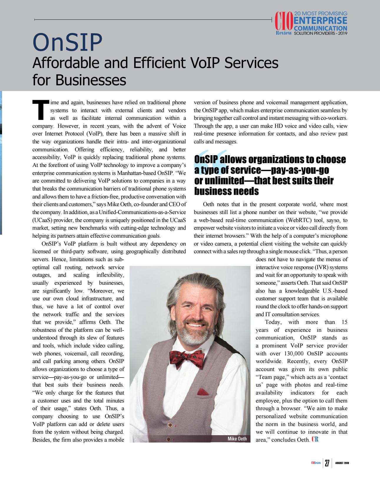 Link to full CIOReview article.