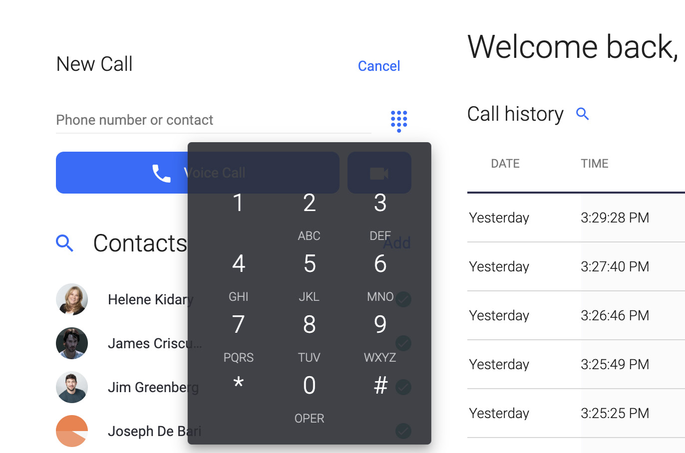 Use the OnSIP app, available in a web browser window or desktop application, to make and receive phone calls on your computer or laptop.
